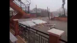 Download Super Typhoon Yolanda/Haiyan Floods Hotel in Tacloban Video