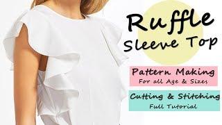 Download Designer Ruffle Sleeve Top ( Pattern / Cutting & Stitching ) Video