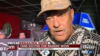 Download Raiders fans gather to celebrate Vegas announcement Video