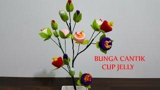 Download Kreasi cara membuat bunga cantik dari cup jelly Video