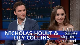 Download Stephen Nerds Out With 'Tolkien' Stars Nicholas Hoult & Lily Collins Video