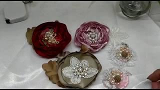 Download FLORES hermosas de tamaño pequeño en Tela sin Molde, Flor para Tiaras Bebe Video