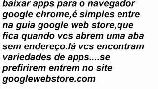 Download Como baixar apps para o google chrome Video
