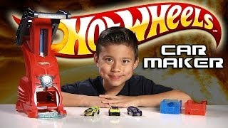 Download HOT WHEELS CAR MAKER Playset Review & Demo Video