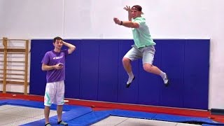 Download Trampoline Charades Battle | Dude Perfect Video