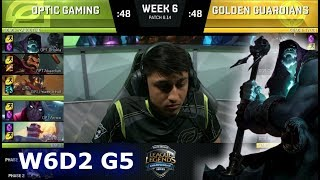 Download OpTic Gaming vs Golden Guardians | Week 6 Day 2 S8 NA LCS Summer 2018 | OPT vs GGS W6D2 Video
