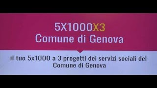 Download Il tuo 5 per mille a tre progetti dei servizi sociali del Comune di Genova Video