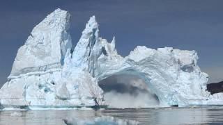 Download iceberg crashing in Diskobay, Greenland Video