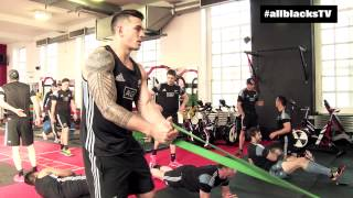 Download All Blacks hit the gym in Cardiff Video