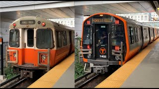 Download MBTA New Orange Line Train vs the Older Trains Video