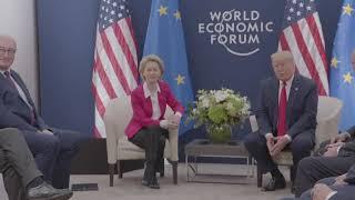 Download Davos 2020: President von der Leyen meets with Donald Trump, President of the United States Video