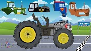 Download Tractor Racing For Kids | Tractor VS Truck | Racing Street Vehicles for Children | Video For Kids Video