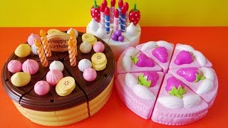 Download Toy cutting velcro cakes strawberry chocolate custard vanilla fruit cake sponge cake Video