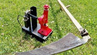 Download Motor powered scythe peening machine Video