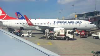 Download Turkish airlines landing at Istanbul Ataturk Video