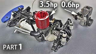 Download Restoring My Old Nitro R/C Car and Installing A *HUGE* Engine on it | Part 1 Video