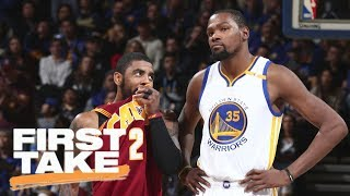 Download Kevin Durant comments on the Kyrie Irving trade and LeBron James | First Take | ESPN Video