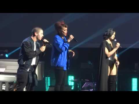 Nick Jonas, Demi Lovato, & Andra Day - Rise Up 7-2-16 Future Now Tour Orlando, FL