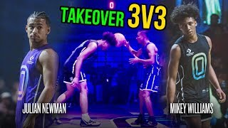 Download Julian Newman Throws Ball Off Mikey Williams' Head, Then Mikey GOES OFF! Julian Challenges Kyree 😱 Video