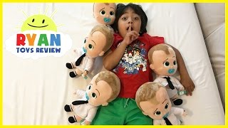 Download BOSS BABY Family Fun Kids Playtime and jumping on the bed! Video