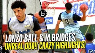 Download Lonzo Ball & Miles Bridges UNREAL DUO at Ballislife All American Scrimmage! CRAZY HIGHLIGHTS!! Video