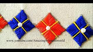 Download हाथ कढ़ाई डिजाइन   सरिस, ब्लाउज, लेहेनगास,के लिए border डिजाइन आसान बनाना   Latest Hand embroidery Video