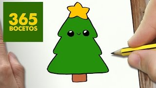Download COMO DIBUJAR UN ARBOL PARA NAVIDAD PASO A PASO: Dibujos kawaii navideños - How to draw a tree Video