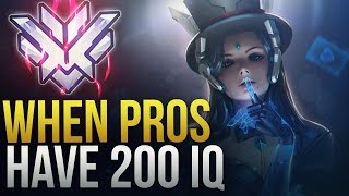 Download PROS MAKE INSANE SMART PLAYS [ 200 IQ PLAYS] - Overwatch Montage Video