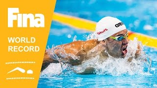 Download Chad Le Clos | World Record 100m Butterfly | 2014 FINA World Swimming Championships Doha Video