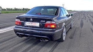 Download 950HP BMW M5 E39 w/ Supercharger! 1/2 Mile Drag Race Accelerations Video