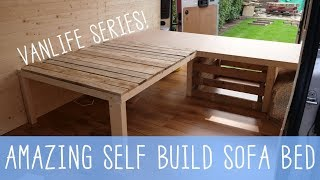 Download HOW TO BUILD A SOFA BED! Van Conversion Series - VANLIFE 🚐 Video
