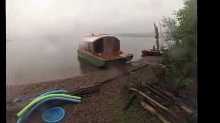 Download A Rainy Day Boat Camping Video