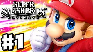 Download Super Smash Bros Ultimate - Gameplay Walkthrough Part 1 - Mario! Spirits & Classic (Nintendo Switch) Video