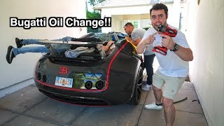 Download Fixing A Bugatti Veyron With A Garden Hose In My Driveway Video