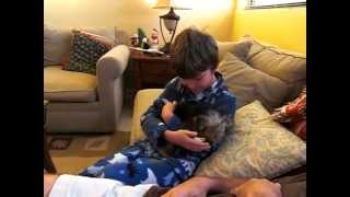 Download The sweetest boy gets dog for christmas EVER! Video