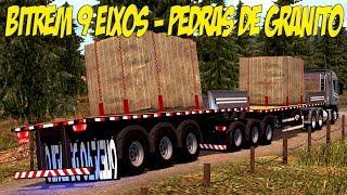 Download SCANIA R-440 NO BITREM 9 EIXOS - TRANSPORTE DE PEDRAS DE GRANITO Video