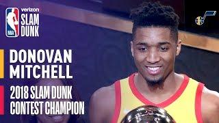 Download Donovan Mitchell Wins 2018 Verizon Slam Dunk Contest Video