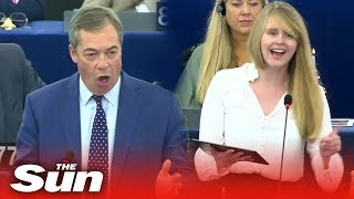 Download The Brexit Party clashes with pro-EU MEPs in European Parliament Video