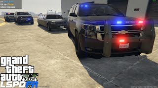 Download GTA 5 LSPDFR Ep 70 | LSPS Los Santos Protection Squad Mod | Escorting VIP's & High Level Prisoners Video