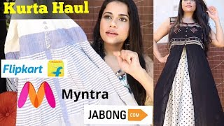 Download KURTA / MAXI DRESS HAUL Under ₹1000 | Myntra - JABONG - Flipkart | Sana K Video