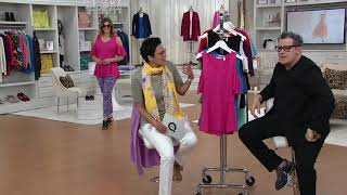 Download Isaac Mizrahi Live! Cold Shoulder Peplum Top on QVC Video
