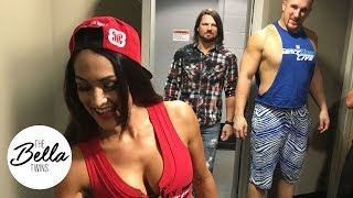 Download Nikki Bella and AJ Styles clear the air on the ″dirty look″ birthday cake photobomb Video