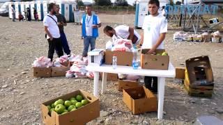Download The Gevgelija refugee camp in Macedonia Video