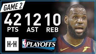 Download LeBron James Full Game 2 Highlights vs Celtics 2018 NBA Playoffs ECF - 42 Pts, 12 Ast, 10 Reb! Video