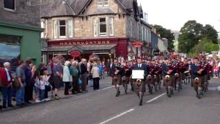Download Pipe Bands Parade Scottish Highland Games Pitlochry Perthshire Scotland Video