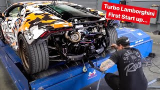 Download FIRST START UP & SOUND - REBUILDING MY LAMBORGHINI WITH TWIN TURBOS! Video