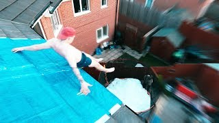 Download INSANE ROOF TOP SLIP N SLIDE! (SLIPPIEST EVER) Video