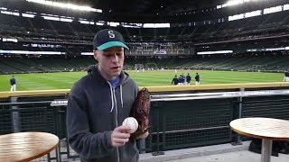 Download Snagging 20 baseballs at Safeco Field! Video