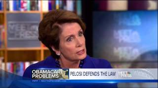 Download Pelosi taken apart by David Gregory on false Obamacare promises Video