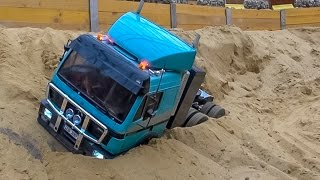 Download RC truck action and Mercedes SK stuck at RC Glashaus! BIG R/C FUN! Video